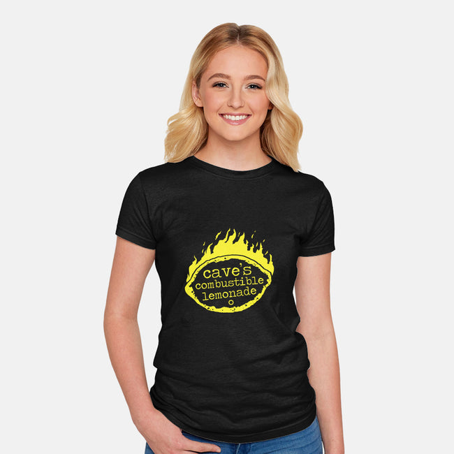 Combustible Lemonade-womens fitted tee-andyhunt