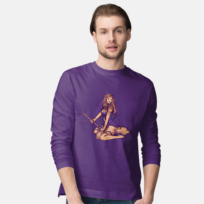 Dangerous to Go Alone!-mens long sleeved tee-MeganLara
