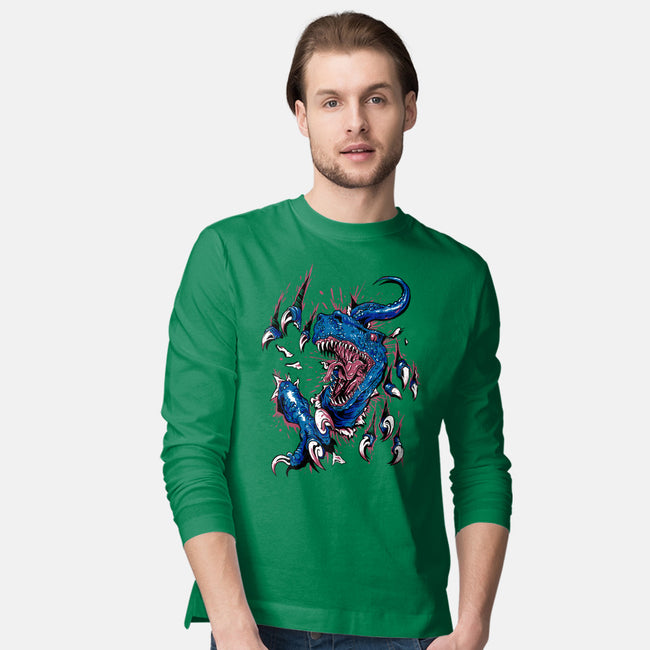 Dino Attack-mens long sleeved tee-Raven