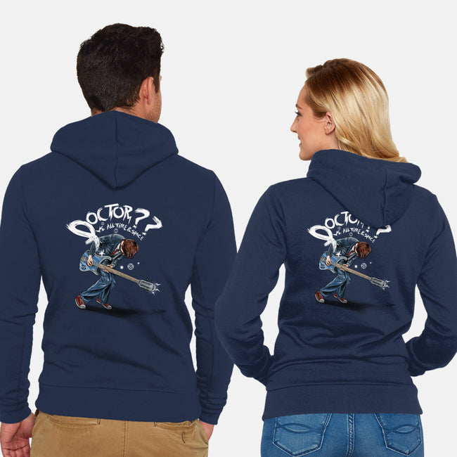 Doctor??-unisex zip-up sweatshirt-onebluebird