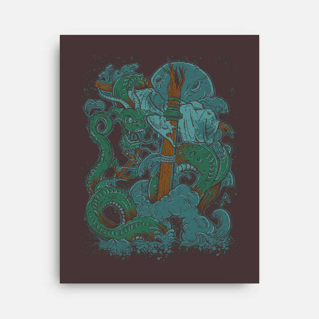 Dragon of the Sea-none stretched canvas-Castle