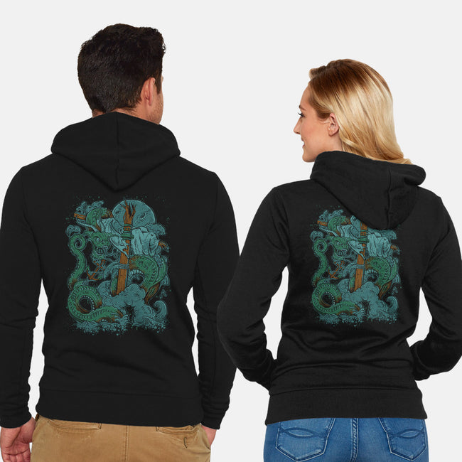 Dragon of the Sea-unisex zip-up sweatshirt-Castle