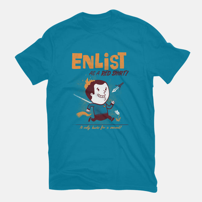 Enlist!-mens heavyweight tee-queenmob