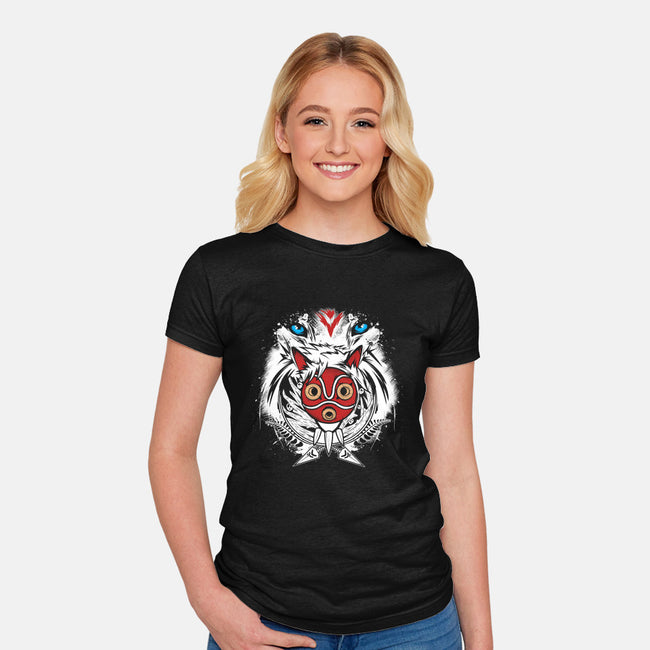 Forest Spirit Protector-womens fitted tee-InkOne