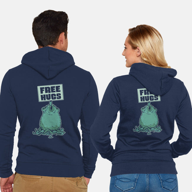 Free Hugs-unisex zip-up sweatshirt-ZombieDollars