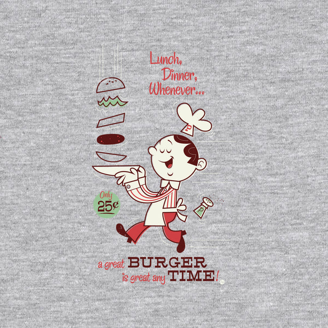 great BURGER any TIME-unisex crew neck sweatshirt-Dave Perillo
