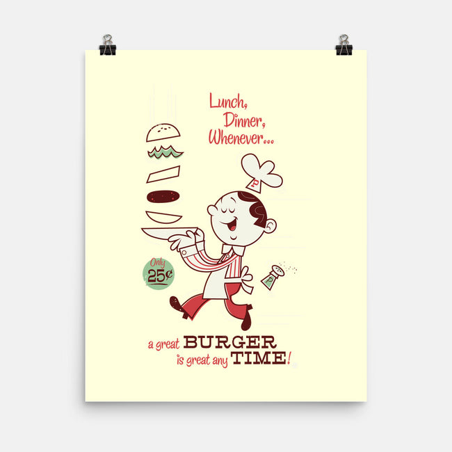 great BURGER any TIME-none matte poster-Dave Perillo