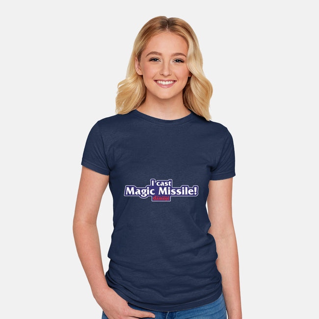 I Cast Magic Missile-womens fitted tee-Aaron A. Fimister