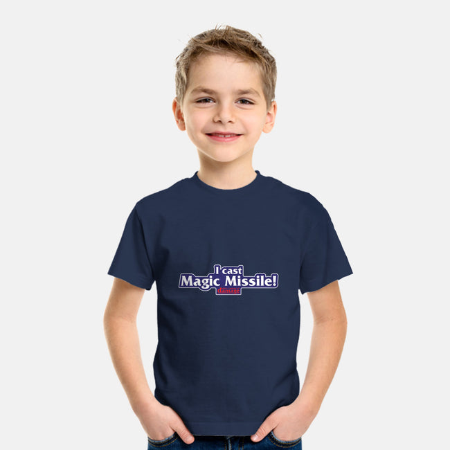 I Cast Magic Missile-youth basic tee-Aaron A. Fimister