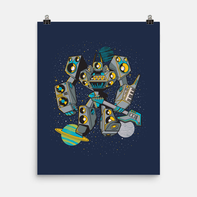 IGNF: Intergalactic Noise Force-none matte poster-mekazoo