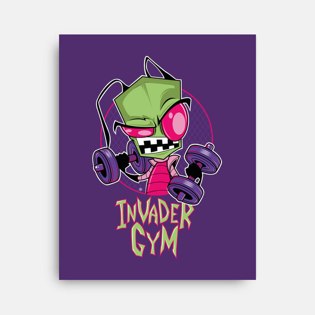 INVADER GYM-none stretched canvas-FernandoSala