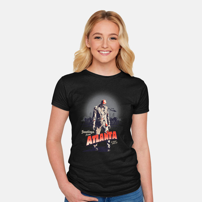 No Place Like It!-womens fitted tee-victorsbeard