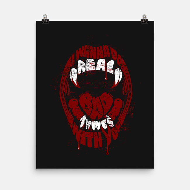 Real Bad Things-none matte poster-zerobriant