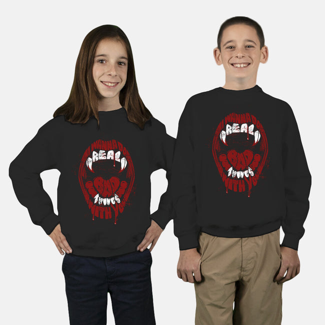 Real Bad Things-youth crew neck sweatshirt-zerobriant