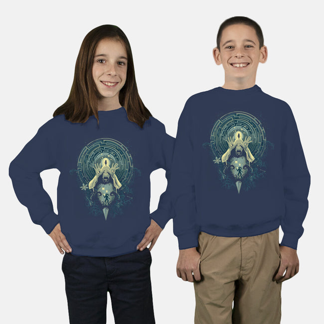 Pan's Nightmare-youth crew neck sweatshirt-Harantula