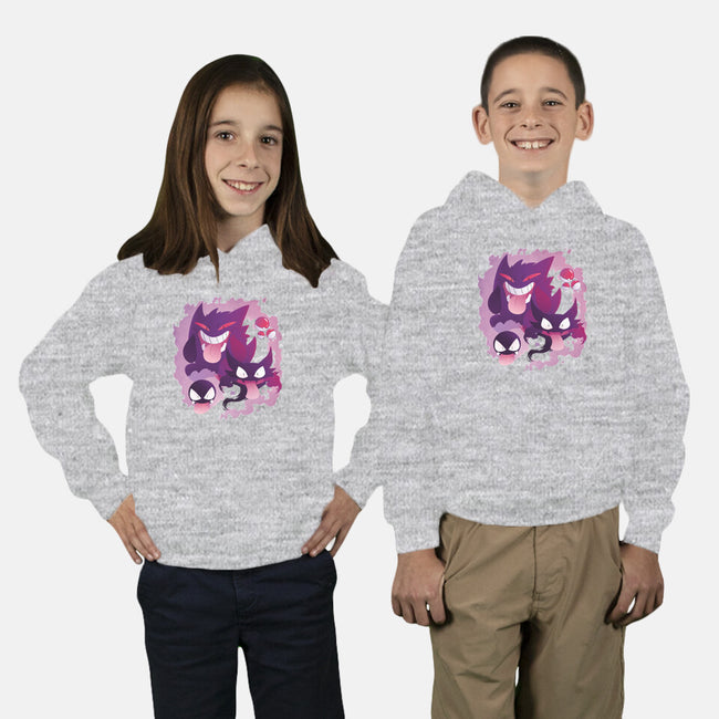 Peek a Boo!-youth pullover sweatshirt-MortinfamiART