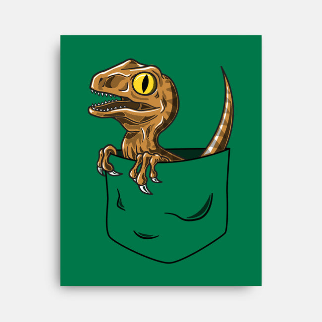 Pocket Velociraptor-none stretched canvas-Tabners