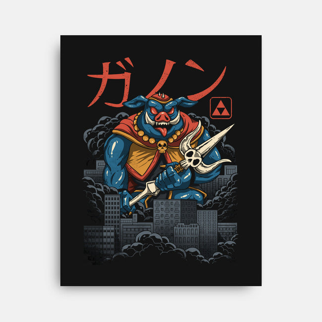 Power Kaiju-none stretched canvas-vp021