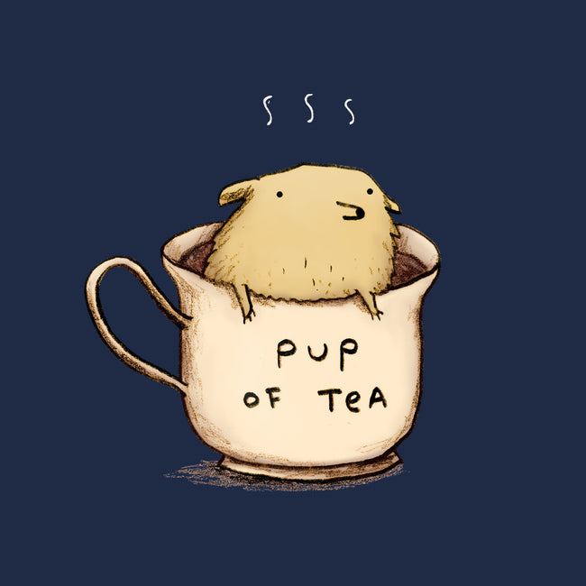 Pup of Tea-none glossy sticker-SophieCorrigan