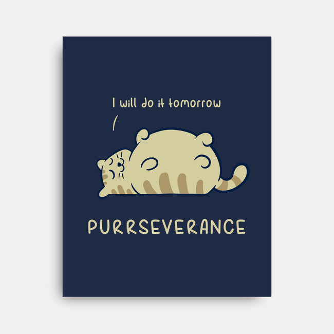 Purrseverance-none stretched canvas-ItokoDesign