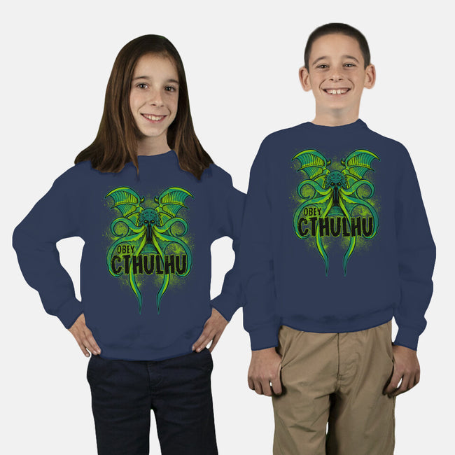 Obey The Cthulhu-youth crew neck sweatshirt-fanfreak1