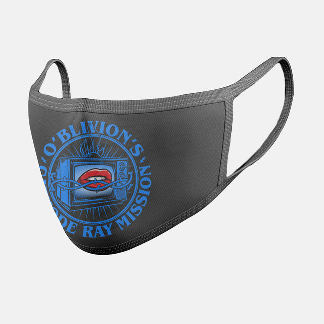 O'Blivion's Cathode Ray Mission-unisex basic face mask-boltfromtheblue