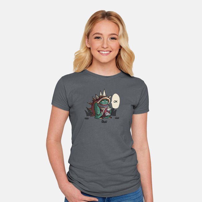 Ok-womens fitted tee-Haragos