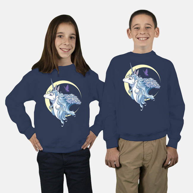 Old As The Sky, Old As The Moon-youth crew neck sweatshirt-KatHaynes