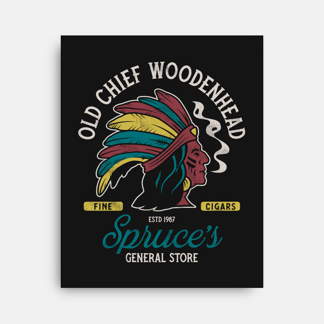 Old Chief Woodenhead-none stretched canvas-Nemons