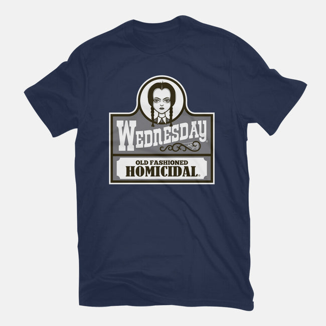 Old Fashioned Homicidal-womens fitted tee-Nemons
