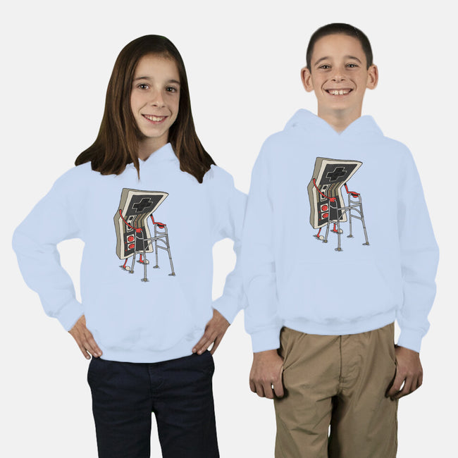 Old Gamer-youth pullover sweatshirt-Gintron