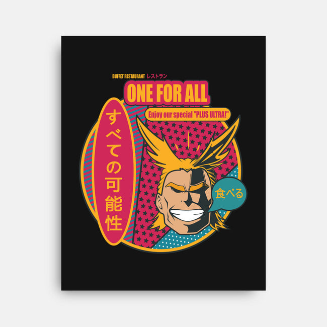 One for All Restaurant-none stretched canvas-Coconut_Design