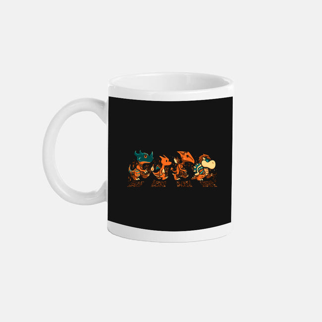 Orange Fiery Road-none glossy mug-PrimePremne
