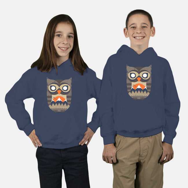 Owl Sunrise-youth pullover sweatshirt-DinoMike