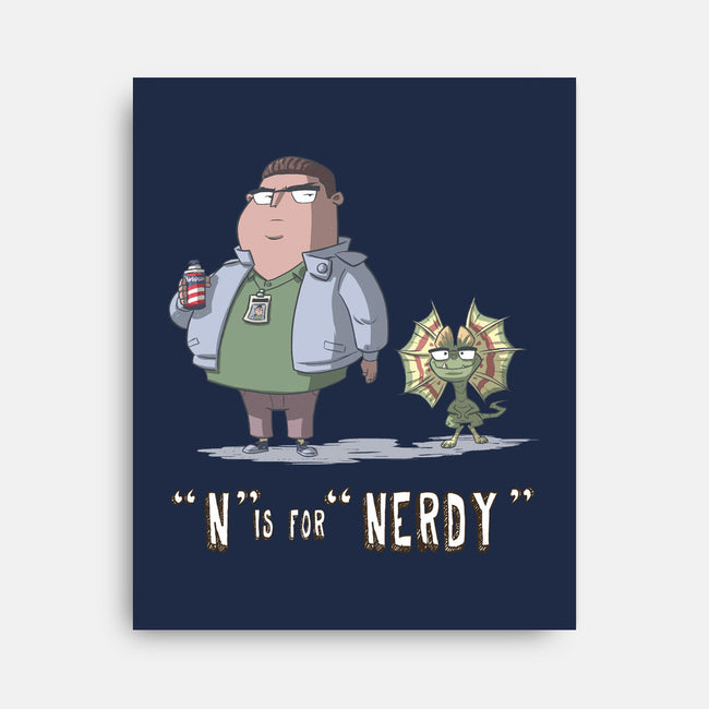 N is for Nerdy-none stretched canvas-otisframpton