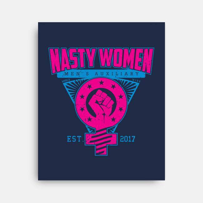 Nasty Women Auxiliary-none stretched canvas-SXStudios
