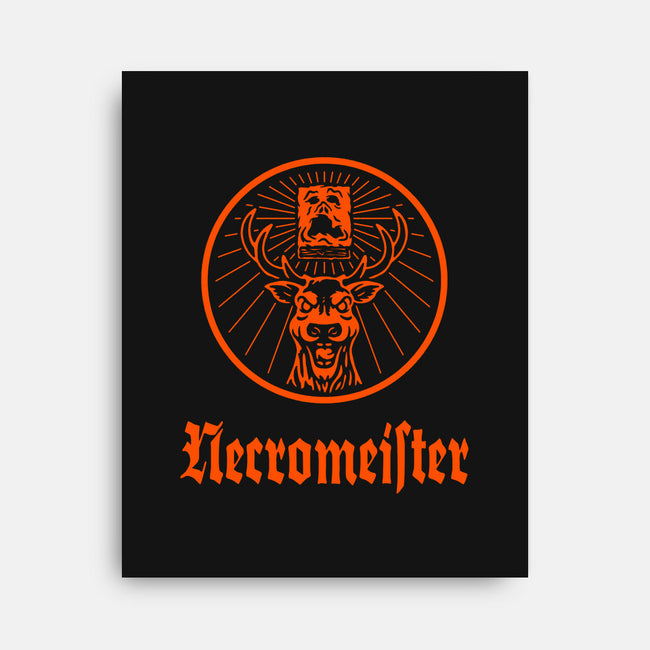 NECROMEISTER-none stretched canvas-BWdesigns