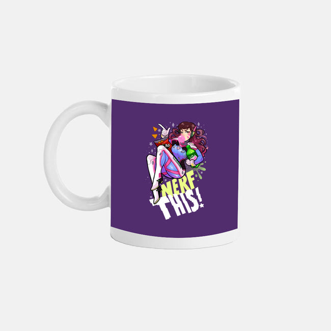 Nerfed Pin Up-none glossy mug-identitypollution