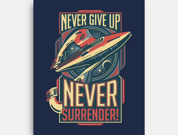 Never Surrender!