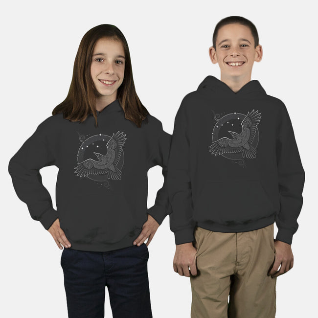 Northern Raven-youth pullover sweatshirt-RAIDHO