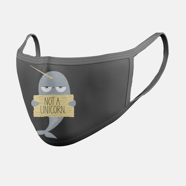 Not A Unicorn-unisex basic face mask-PolySciGuy