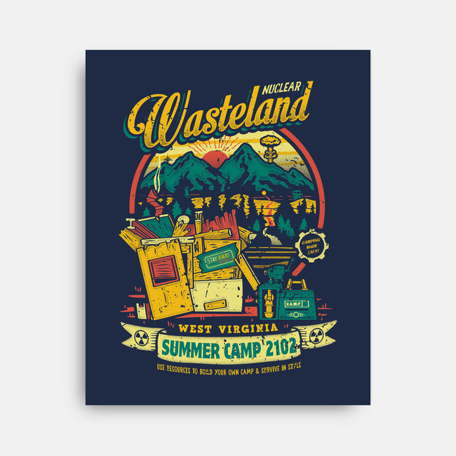 Nuclear Summer Camp-none stretched canvas-Olipop