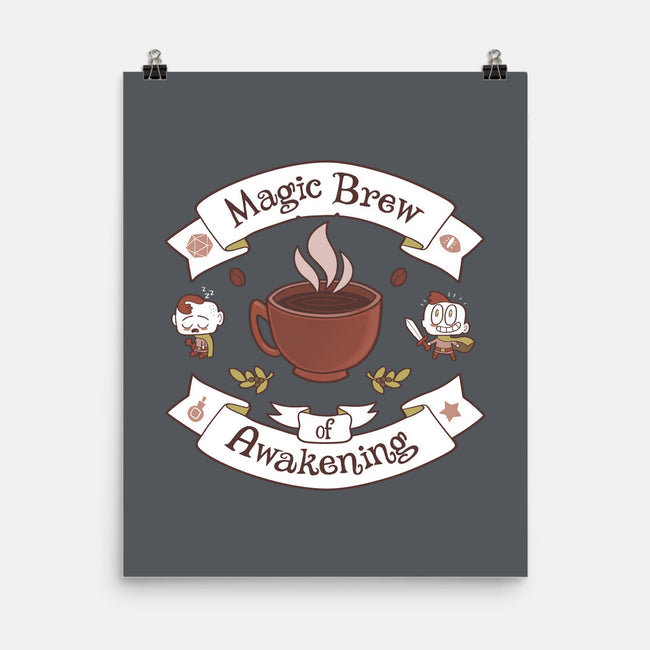 Magic Morning Brew-none matte poster-queenmob