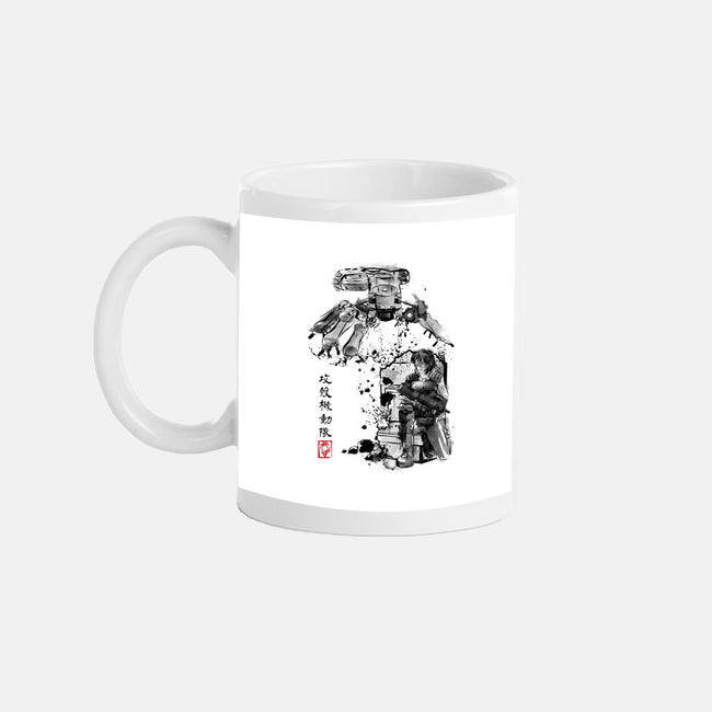 Major vs Tank Sumi-e-none glossy mug-DrMonekers
