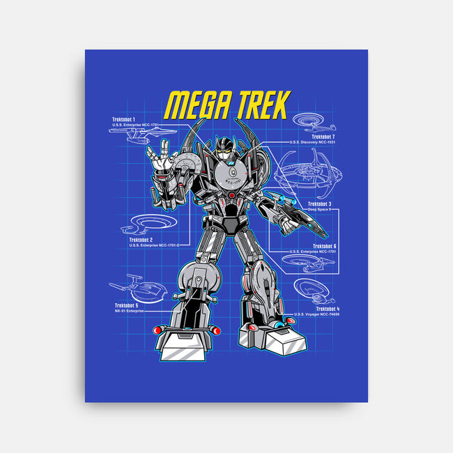 Mega Trek-none stretched canvas-Robreepart