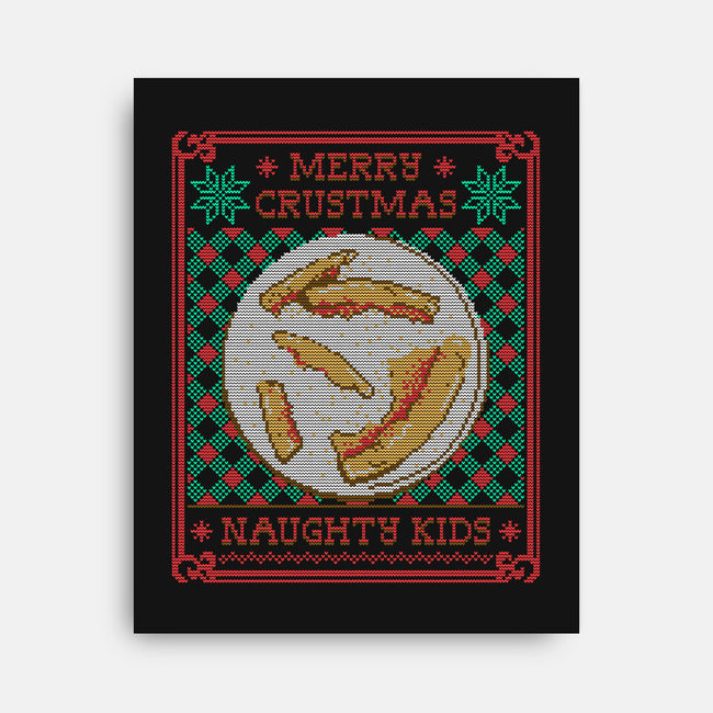 Merry Crustmas-none stretched canvas-CoD Designs