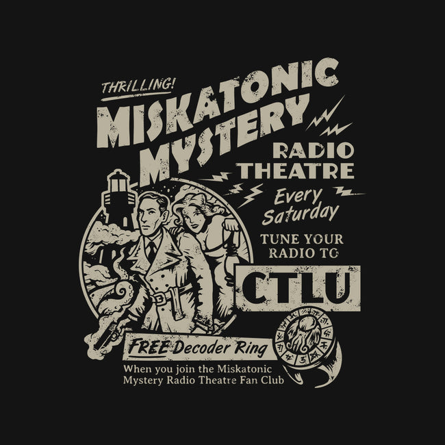 Miskatonic Mystery-none stretched canvas-heartjack