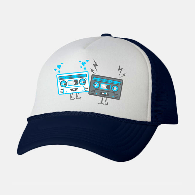 Mixed Tapes-unisex trucker hat-bluerobot