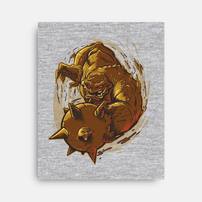 Molded Mischief-none stretched canvas-Poopsmoothie