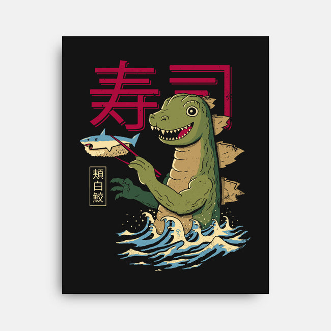 Monster Sushi-none stretched canvas-DinomIke